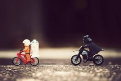 Star Wars figurines and bicycles; can't cope with the cuteness