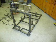 Engine Stand Project Garage Organization Tips, Garage Tool Storage, Garage Tools, Car Tools, Garage Shop, Tire Steps, 454 Big Block, Engine Stand, Crate Motors