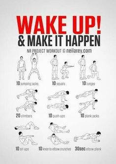 Why not wake up in the morning and smash out this workout and feel good and healthy throughout the whole day.