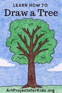 How to Draw a Tree · Art Projects for Kids. Here's how to draw a tree in nine easy steps. Once you see the pattern involved, your trees will look much more life like. Tree Drawing For Kids, Tree Drawing Simple, Drawing Lessons For Kids, Art Drawings For Kids, Easy Drawings, Art Lessons, Art For Kids, Drawing Practice, Drawing Trees