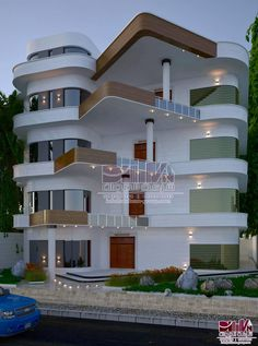 The first step to being taken before giving early in its construction is to research enough to have new ideas on how to be your home if you are looking Modern Fence Design, Best Modern House Design, Bungalow House Design, House Outside Design, House Front Design, Luxury House Plans, Modern House Plans, Luxury Houses, Morden House
