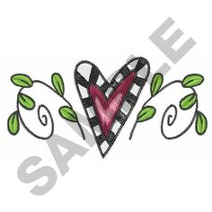 COUNTRY WHIM HEART embroidery design