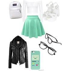 Untitled #13 by briannahurst on Polyvore featuring polyvore, fashion, style, Topshop, JanSport and Ray-Ban