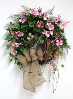 spring wreaths for front door   Front Door Wreath, Spring Wreath, Summer Wreaths, Apple Blossoms ...