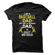 Cooler Baseball dad T Shirts, Hoodies. Check price ==► https://www.sunfrog.com/LifeStyle/Cooler-Baseball-dad--0216.html?41382