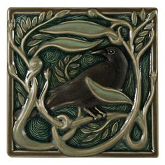 The 6x6 Revival Rook tile is part of a 4 tile series that was designed by Rookwood Pottery