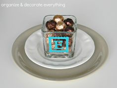 Day 6- Candle Holder Place Cards - Organize and Decorate Everything