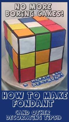 How to make Fondant and other great tutorials
