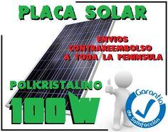 """Os dejamos nuestro anuncio de la semana: """"Placas Paneles Solares Nuevas 100w Policristalinas 105€.""""  Aprovecha esta oportunidad es la mejor solución para instalaciones aisladas, campers, caravanas, hogares, casas de campo, embarcaciones, etc.  ¡¡¡Feliz Martes!!!"""