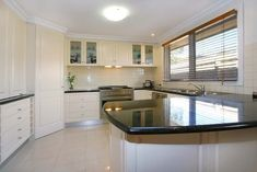 l shaped kitchen with corner pantry - Google Search