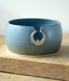 love. blue. moon. yarn. pottery. beautiful.