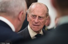 The Duke of Edinburgh meets guests during the reception at Canada House in Trafalgar Square earlier today