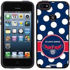 Atlanta Hawks Polka Dots Design on Apple iPhone 5SE/5s CandyShell Case by Speck