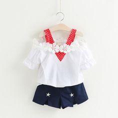 Girls Summer Style Sleeveless White T-shirt+Plaid Culottes 2Pc Suit #BabyGirlDress #KidsFashion #KidsClothing #KidsDress #BabyDress #KidsClothes #BabyGirlClothes #KidsFashionforall #Kids