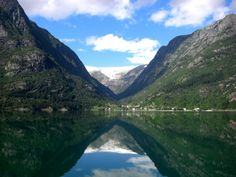 Hardanger fjord, Norway - the glacier Buarbreen and Folgefonna National Park by Antje Dorn. Excellent for guided glacier hikes! Beautiful Norway, Backpacking Europe, Suitcases, Footprints, Great Places, Denmark, Sweden, Scandinavian, Tourism