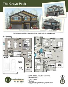 The Cutler By Reunion Homes New In Colorado Springs Pinterest