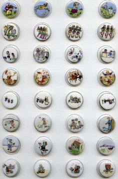 Mother Goose Nursery Rhyme button sets by Lois Calkins