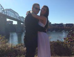 www.chattanoogaweddingofficiants.com  Wedding of Hayley Stoker and Chadwick Massey. Coolidge Park, Chattanooga, Tennessee.  November 29,2013