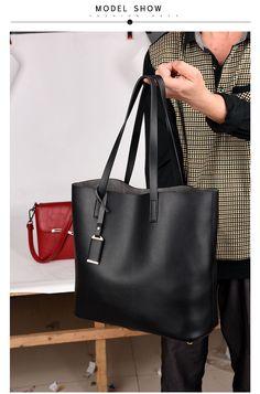 dea6f52d8dd More High Quality PU Leather Women s Handbags Big Captain Bag Ladies  Shoulder Bags Tans 2017 New