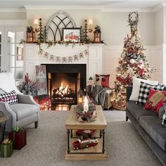 Our All Through the House Collection features farmhouse Christmas decorations that make your holiday warm and welcoming. Give your home rustic Christmas charm.