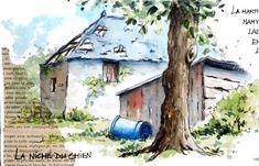 BB-Aquarelle Watercolor Sketchbook, Artist Journal, Draw Something, Sketches, Art Journals, Drawings, Illustration, Outdoor Decor, Bullet Journal