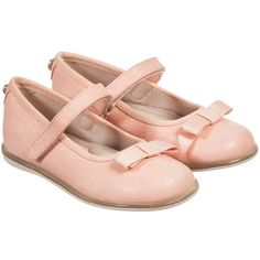 Mayoral Girls Pink Shoes with Velcro Strap & Bow at Childrensalon.com