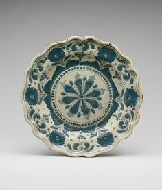Plate  Date: ca. 1825 Geography: Mexico Culture: Mexican Medium: Earthenware