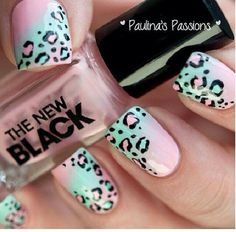 Love these cheetah nails