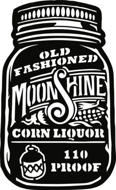 Old Fashioned Moonshine Corn Liquor - Plasma Laser DXF Cut File