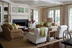 Neutrals...note molding pattern on face of mantel.