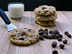 Hun... What's for Dinner?: Chocolate Covered Raisin Oatmeal Cookies