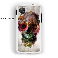 skull flowers prints for Nexus 4/Nexus 5 phonecases