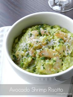 Avocado Shrimp Risotto - Cooking with Curls