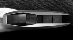 Code X Solar Powered Yacht | Powered by two Ilmor Marine 710 horsepower V10 Formula 1 engines, along with a bank of solar cells that store power in on-board lithium ion batteries, this solar-powered luxury yacht contains a Kevlar/carbon fiber hull, a canopy that tilts up to the rear swim deck, and a hot tub for unwinding after a hard day of work.