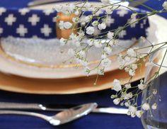 Blue Market Placemat & Napkin Set