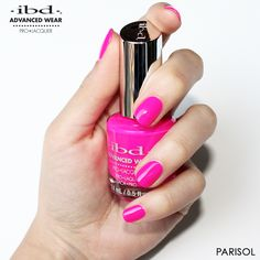 Parisol is the epitome of a summer shade! This bright poppy neon pink stands out on any nail length. Have you tried Parisol? Let us know what you think. Nails by ibd Global Educator Nail Length, Have You Tried, Pedicure, Poppy, Nail Polish, Lipstick, Neon, Bright, Let It Be