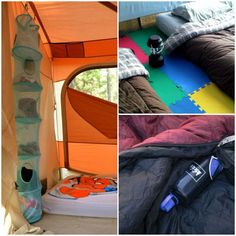 Camping in a tent doesn't have to mean roughing it if that's not your style. These tent hacks will make your tent super comfy!