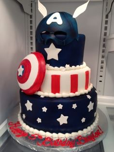 Epic Captain America cake....someone needs to make me this, now!