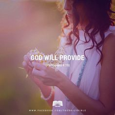 God will provide.  Philippians 4:19