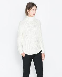 CABLE KNIT SWEATER from Zara $59.90