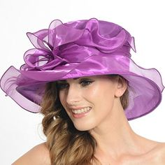 Womens Church Dress Derby Wedding Floral Tea Party Hat Ss-035 (Black) at Amazon  Women s Clothing store  18b9892369c5