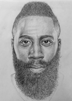 """James Harden"" by J.C. Gill II 8.5"" x 11"" Pencil on Paper"