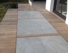 Modern Patio Design, Modern Backyard, Backyard Patio, Backyard Landscaping, Outdoor Spaces, Outdoor Living, Green Terrace, Porch Flooring, Garden Design