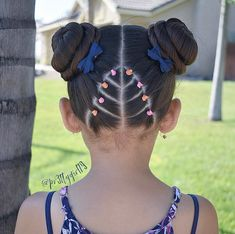 Beautiful style inspired by the talented Patricia Easy Toddler Hairstyles, Cute Little Girl Hairstyles, Girls Natural Hairstyles, Baby Girl Hairstyles, Hairstyles With Bangs, Natural Hair Styles, Short Hair Styles, Easy Hairstyles, Popular Hairstyles