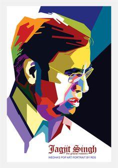 Wedha's Pop Art Portrait of Jagjit Singh