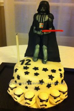 Coolest Darth Vader Birthday Cake... This website is the Pinterest of birthday cake ideas