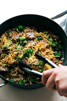 The best way to enjoy beef and broccoli -- over ramen noodles with an ultra delicious sauce! Easy dinner recipe the whole family will love!