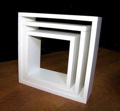 trio nichos 100% mdf branco - espessura 15mm -muito barato!