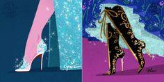 """As princesas Disney ganharam diversas versões, inclusive já foram desenhadas com vestidos de estilistas famosos. Pra """"completar"""" o visual, agora elas recebem sapatos de designers renomados! Aliás, não só elas, mas algumas vilãs e outras personagens femininas como a Sally de """"O Estranho Mundo de Jack"""" e a Fada Azul de """"Pinóquio"""". A artista Griselda Sastrawinata imaginou como seriam os calçados extravagantes ideais para cada personagem. Ela contou que acredita..."""