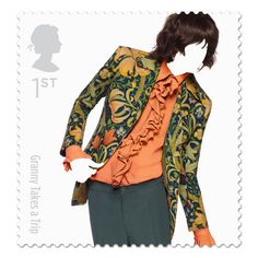 The Great British Fashion Stamp Set, launched by The Royal Mail which honors 10 top fashion houses including amazing Alexander McQueen, Paul Smith & Vivienne Westwood. Royal Mail Stamps, Uk Stamps, Postage Stamps, Great British, British Style, British Fashion, Uk Fashion, Royal Fashion, Star Fashion